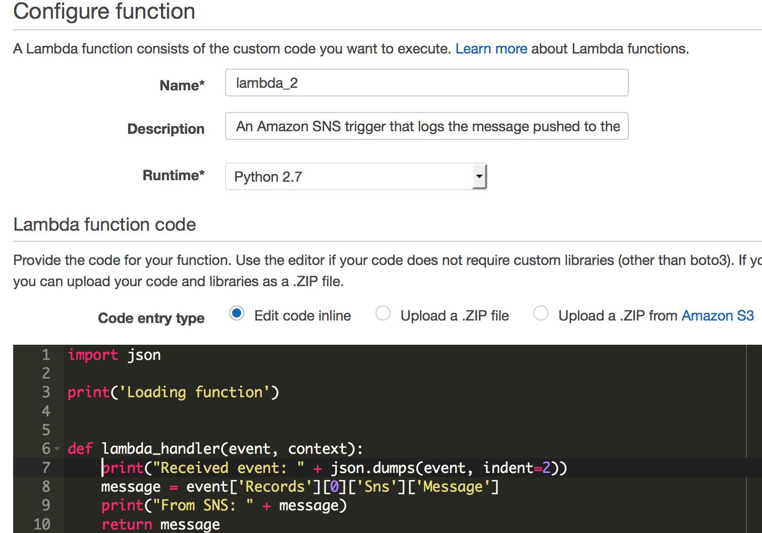Lambda Basics with Python using Github Webhooks or API